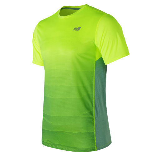 New Balance : Accelerate Graphic Short Sleeve : Men's Apparel Outlet : MT71066HLP