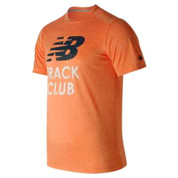 New Balance Heather Graphic Tee, Alpha Orange Heather
