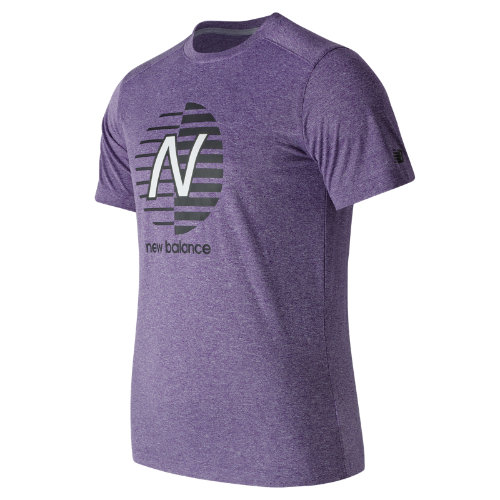 New Balance : Heather Graphic Tee : Men's Apparel Outlet : MT71091BPH