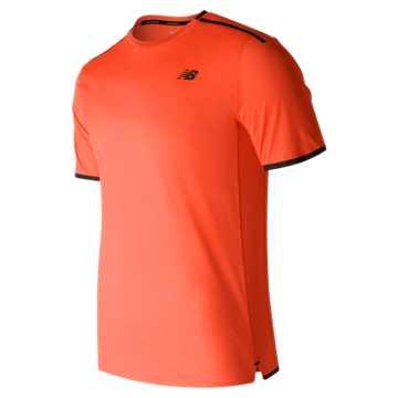 New Balance Precision Run Short Sleeve, Alpha Orange Heather