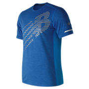New Balance Viz Short Sleeve, Electric Blue