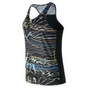New Balance NB Ice Printed Singlet, Black Print