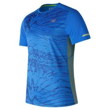 New Balance NB Ice Printed Short Sleeve, Electric Blue