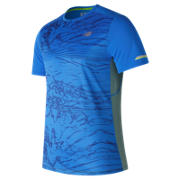 NB NB Ice Printed Short Sleeve, Electric Blue