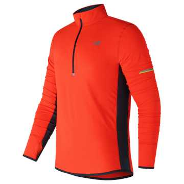 New Balance Impact Half Zip, Alpha Orange with Supercell