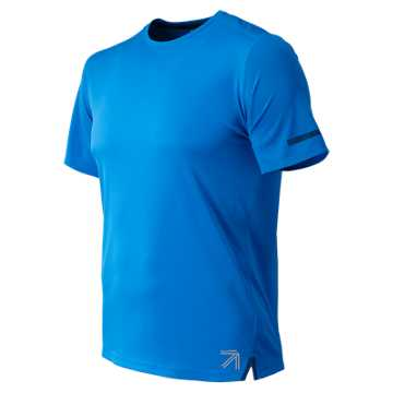 New Balance J.Crew NB Ice 2.0 Short Sleeve Tee, Electric Blue