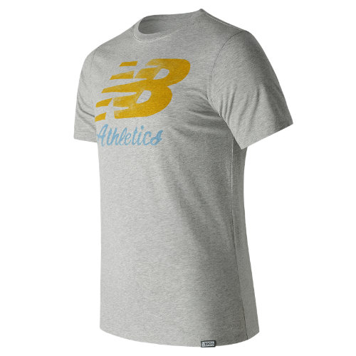 New Balance : Flying Script Tee : Men's Apparel Outlet : MT71508AG
