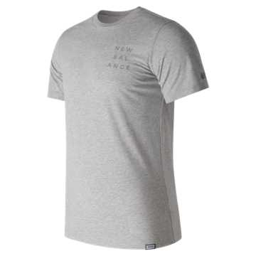New Balance Stack Tee, Athletic Grey