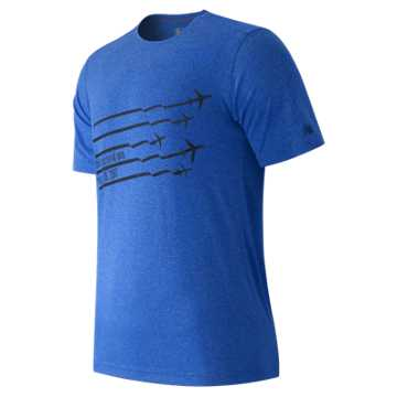 New Balance United NYC Half Planes Tee, Blue