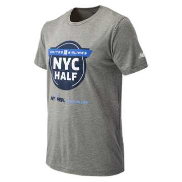 New Balance United NYC Half Official Tee, Grey