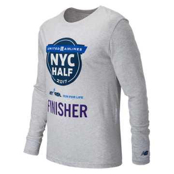 New Balance United NYC Half Finisher LS Tee, White