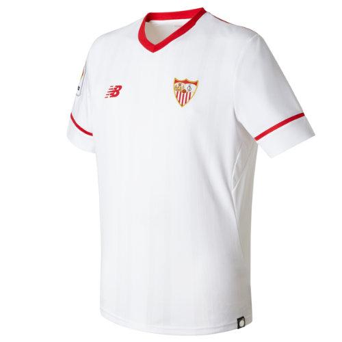 New Balance : Sevilla Mens Home SS Jersey : Men's 2017/18 Sevilla FC : MT730077WT