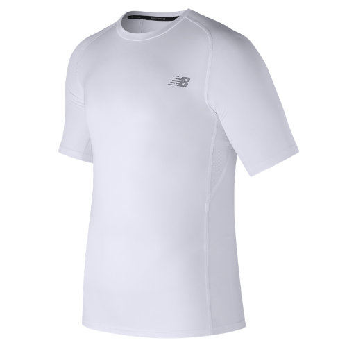 New Balance Challenge Short Sleeve Boy's Clothing Outlet - MT73037WT