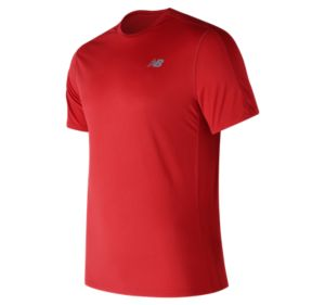 뉴발란스 New Balance Mens Accelerate Short Sleeve,Red