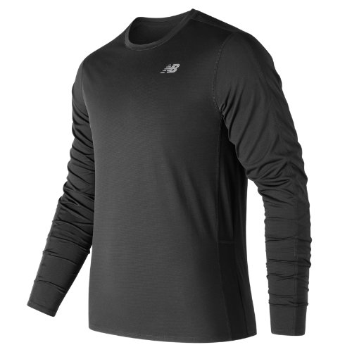 New Balance Accelerate Long Sleeve Boy's Clothing Outlet - MT73063BK