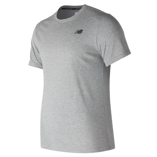 New Balance Heather Tech Short Sleeve Boy's Performance - MT73080AG