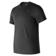 Heather Tech Short Sleeve, Black with Heather Charcoal