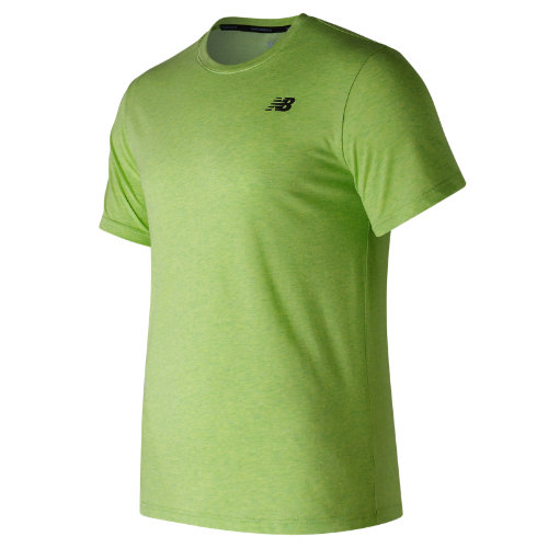 New Balance : Heather Tech Short Sleeve : Men's Performance : MT73080EGL