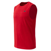 Heather Tech Sleeveless, Red Pepper