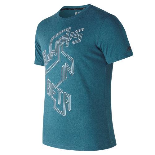 New Balance : Heather Tech Brand Graphic Short Sleeve : Men's Performance : MT73084MRU