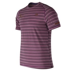 뉴발란스 New Balance Mens NYC Marathon Seasonless Short Sleeve,Wine