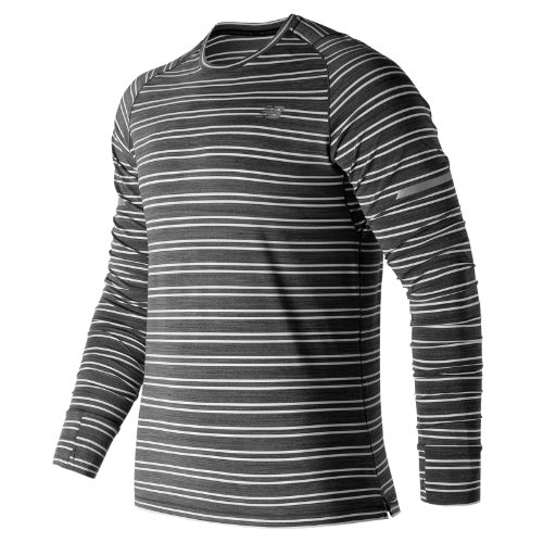 New Balance Seasonless Long Sleeve Boy's Performance - MT73236BKH