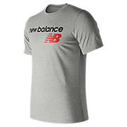 NB Athletics Main Logo Tee, Athletic Grey with Black