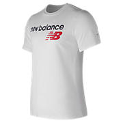 NB Athletics Main Logo Tee, White