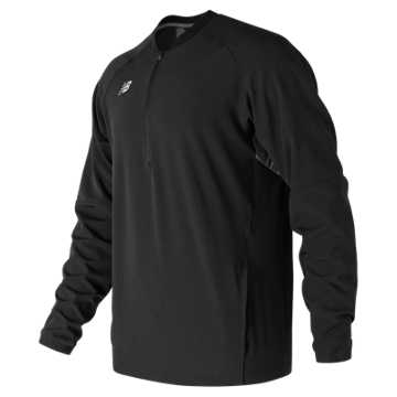Men's Long Sleeve 3000 Batting Jacket, Team Black