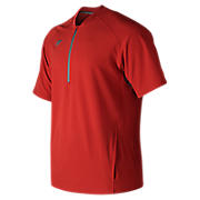 Men's Short Sleeve 3000 Batting Jacket, Team Red