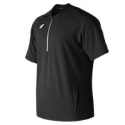 Men's Short Sleeve 3000 Batting Jacket, Team Black