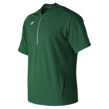 Men's Short Sleeve 3000 Batting Jacket, Team Dark Green