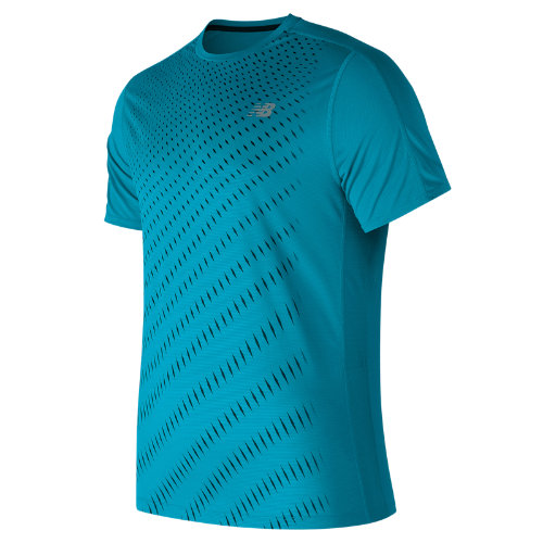 New Balance Accelerate Graphic Short Sleeve Boy's Clothing Outlet - MT81274MLE
