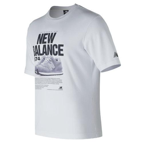 New Balance 574 Tee Boy's  - MT81567WT
