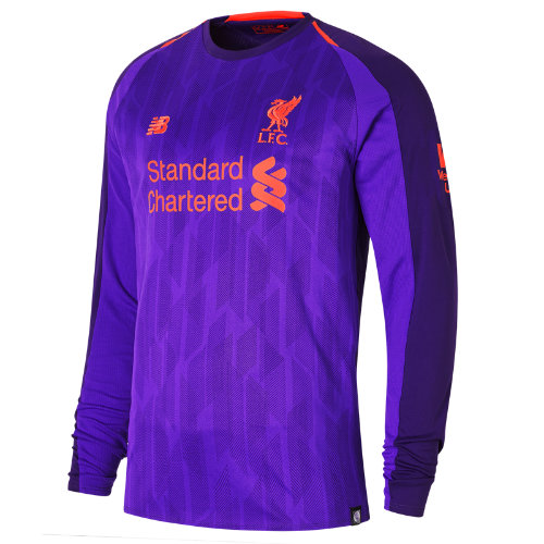 New Balance LFC Away Long Sleeve Jersey Boy's 2018/19 Away Kit - MT830021DV