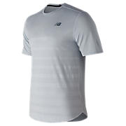 Q Speed Jacquard Short Sleeve , Artic Blue with Heather Grey