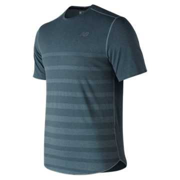 Q Speed Jacquard Short Sleeve , Blue Smoke with Heather Grey