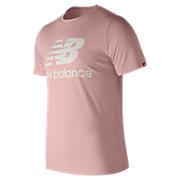 Essentials Stacked Logo Tee , Light Pink