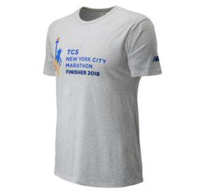 뉴발란스 New Balance Mens NYC Marathon Logo Finisher,White