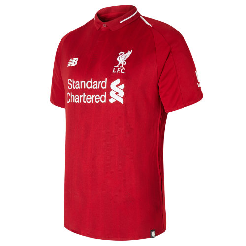 New Balance LFC Mens Salah Home Short Sleeve EPL Patch Jersey Boy's All Accessories - MT839807RDP