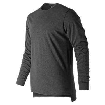 Men's R.W.T. Long Sleeve Heathertech T, Black Heather