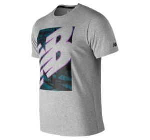 뉴발란스 New Balance Mens NB Heathertech Tee,Athletic Grey