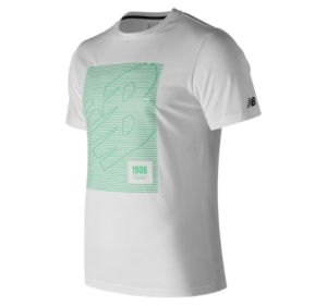 뉴발란스 New Balance Mens HD Heathertech Tee,White