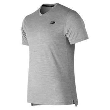 Men's Tenacity V-Neck , Athletic Grey