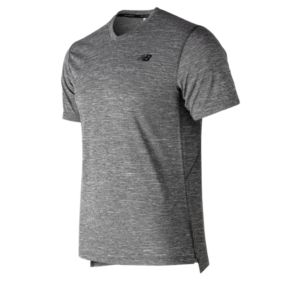 뉴발란스 New Balance Mens Tenacity V Neck,Heather Charcoal