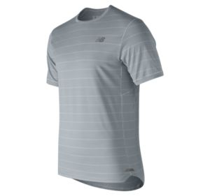 뉴발란스 New Balance Mens Seasonless Short Sleeve,Sky Grey