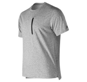 뉴발란스 New Balance Mens Sport Style Pocket Tee,Athletic Grey