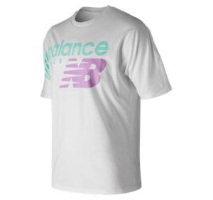 뉴발란스 New Balance Mens Athletics Crossover Tee,White