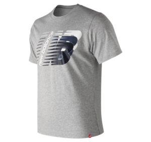 뉴발란스 New Balance Mens Essentials Three Ns Short Sleeve Tee,Athletic Grey