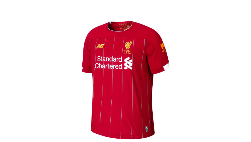 c1209949aa New Balance Liverpool FC Home SS Jersey Salah No EPL Patch Hombre ...